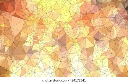 Low poly background design in geometric pattern. polygon wallpaper in origami style. polygonal texture illustration in color yellow and light brown and brown and orange.