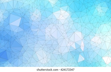 Low poly background design in geometric pattern. polygon wallpaper in origami style. polygonal texture illustration in color light blue.
