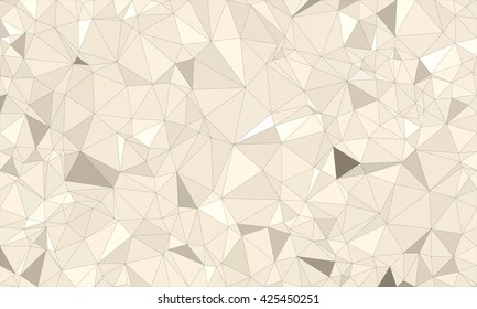 Low poly background design in geometric pattern. polygon wallpaper in origami style. polygonal texture illustration in color  gray and white and brown.