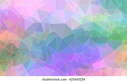 Low poly background design in geometric pattern. polygon wallpaper in origami style. polygonal texture illustration in color blue and green and violet and grey and brown.