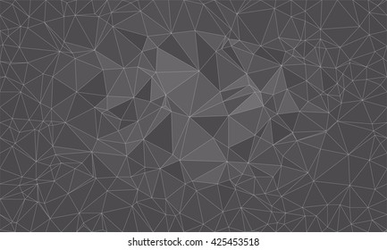 Low poly background design in geometric pattern. polygon wallpaper in origami style. polygonal texture illustration in color grey.