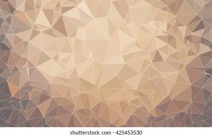 Low poly background design in geometric pattern. polygon wallpaper in origami style. polygonal texture illustration in color brown and grey.