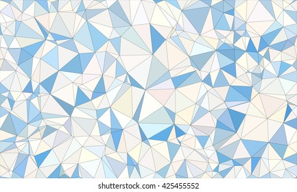 Low poly background design in geometric pattern. polygon wallpaper in origami style. polygonal texture illustration in color  white and blue.