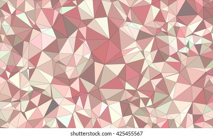 Low poly background design in geometric pattern. polygon wallpaper in origami style. polygonal texture illustration in color grey and pink and brown and green.
