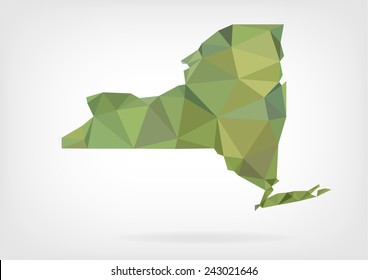 Low Poly map of New York state