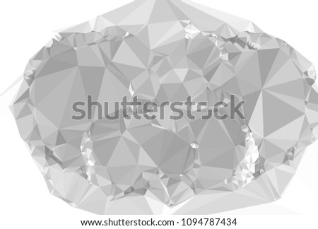 low poly mosaic grayscale background template stock illustration