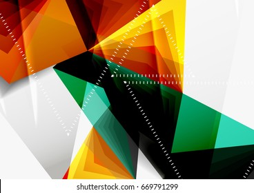 vector low poly style 3 d triangle stock vector royalty free