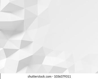 Low polygonal background - 3d rendering.