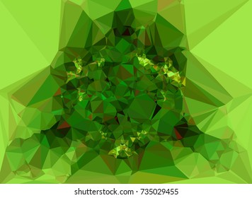 Low polygonal background toned in green color. Design element for book covers, presentations layouts, title and page backgrounds. Raster clip art.