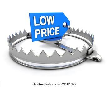 Low price danger. Low price on bear trap.