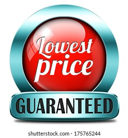lowest price special offer bargain and sales discount red icon label sticker or sign