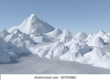 lowpoly abstract landscape