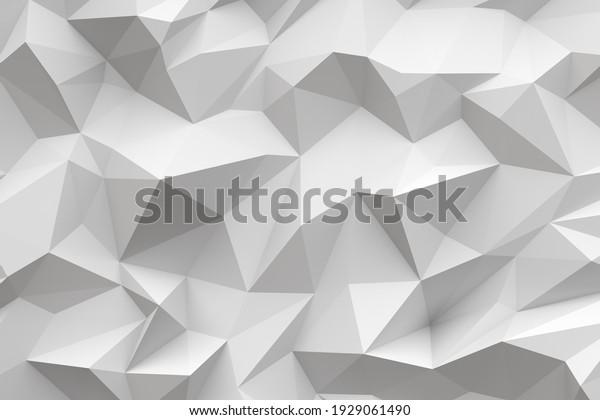 3d white chaotic polygons full wall geometric digital wallpaper murals