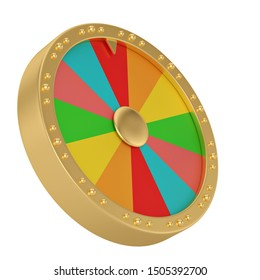 Luck wheel  isolated on white background 3D illustration.