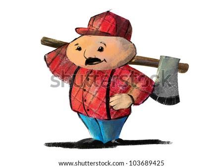 7bf62141c1a Lumberjack Stock Illustration 103689425 - Shutterstock