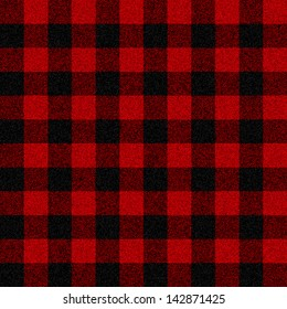 Lumberjack plaid seamless pattern for your design (raster illustration)