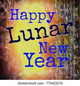 Lunar New Year bright night celebration icon