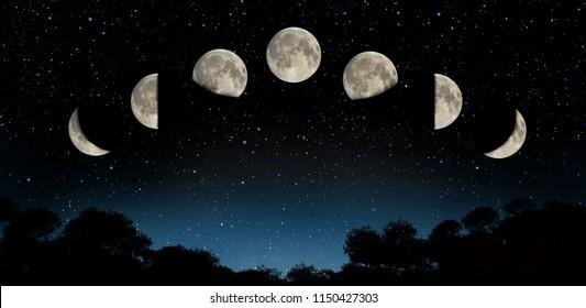 lunar phase illustartion