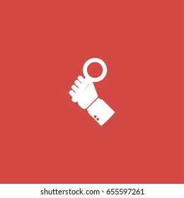 lupa icon. sign design. red background