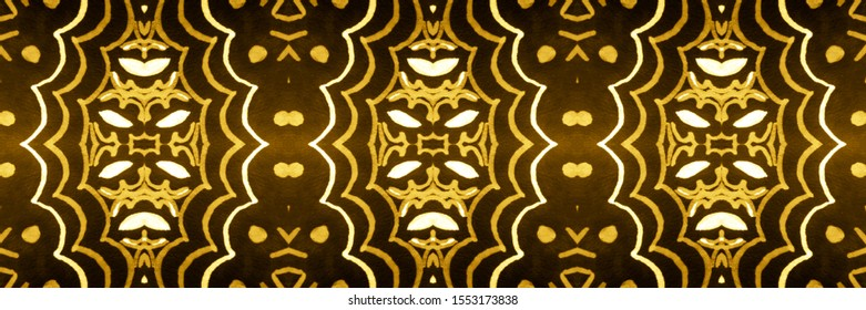 Luster Gold, Yellow On Dark. Pattern Designs. Chevron Water Color Wallpaper. Abstract Ikat Pattern. Graphic Design. Abstract Turkish Stylized Backdrop.