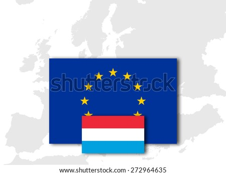 Royalty Free Stock Illustration Of Luxembourg European Union Flag