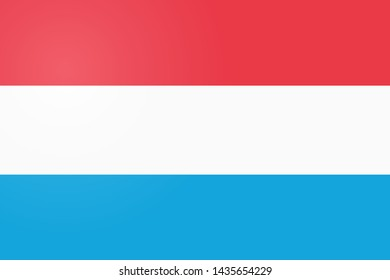Luxembourg Flag. Official colors and proportion correctly. National Flag of Luxembourg. Luxembourg Flag  illustration. Luxembourg Flag  background.