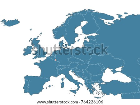 Map Of Europe Luxemburg.Luxembourg On Map Europe Stock Illustration 764226106 Shutterstock