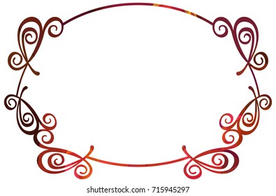 Luxurious abstract round frame. Copy space. Beautiful background for your artwork. Raster clip art.