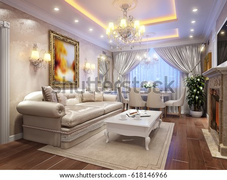 Royalty Free Stock Illustration Of Luxurious Classic Baroque Living
