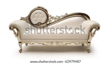 Luxurious sofa isolated on white background