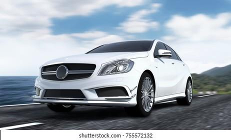 Luxury car 3d rendering