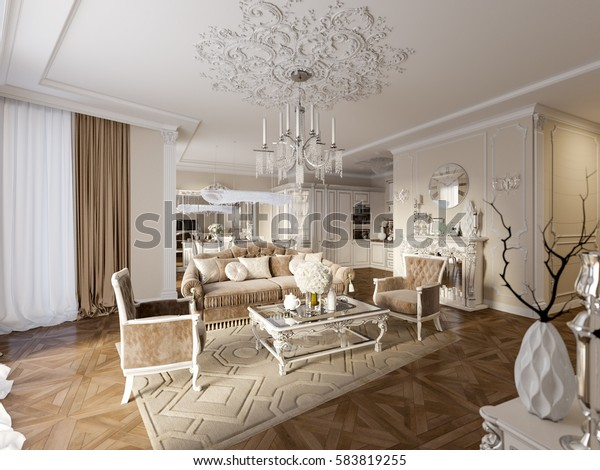 Luxury Classic Interior Dining Room Kitchen Buildings