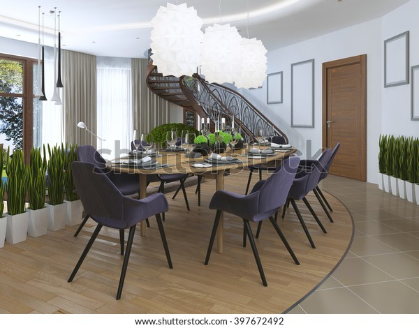 Luxury Dining Room Contemporary Style Large Stock ...