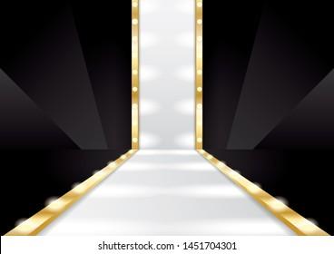 luxury fashion runway stage image. JPEG file