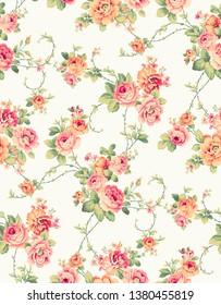 Luxury floral pattern design for fabric,linens,wallpaper,children rom