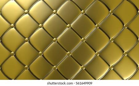 Luxury Gold Leather Furniture Wallpaper Illustration