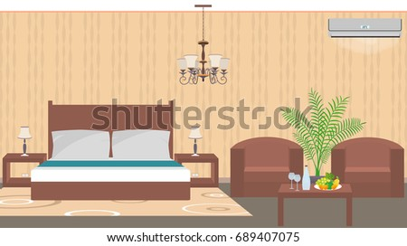 Royalty Free Stock Illustration Of Luxury Hotel Room Interior East Inspiration Bedroom Air Conditioners Style Interior