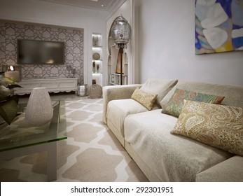 Salon Marocain Moderne Images, Stock Photos & Vectors ...