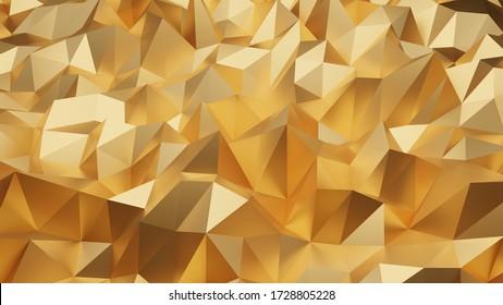 luxury modern design gold polygon background 3d rendering, 3d illustration