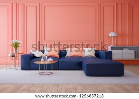 Modern Interieur Living : Luxury modern interior living room living stockillustration
