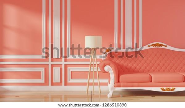 Luxury Modern Interior Living Room Living Stock Illustration