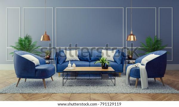 Living Room Decor Blue Homedecorations