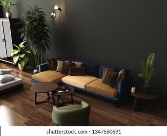 Dark Green Couch Images, Stock Photos & Vectors   Shutterstock