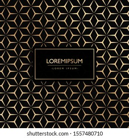 Luxury pattern pentagon background illustration