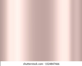 Luxury Rose gold gradient background, reflection metallic shining effect for decorative backdrop and designs