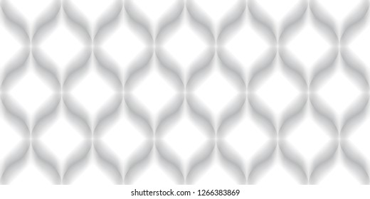 Luxury Seamless Pattern. 3D Effect Emboss. Droplet Shape