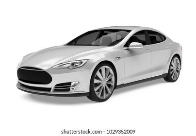 Luxury Sedan Car Isolated. 3D rendering