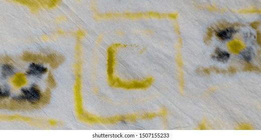 Luxury Tie Dye Art. Aquarelle Paint. Dirty Art Banner. Golden Watercolor Ink. Yellow Graffiti Style. Brushed Silk. Yellow Oil Ink. Luxury Graffiti Style.