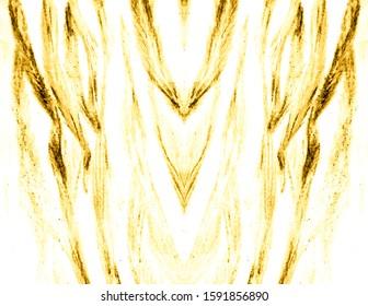 Luxury Tiger Print.  Royal Bengal Tiger. Light Tones Safari Wallpapers. Gold, White Modern Art Image. Royal Bengal Tiger. Chic Zebra Ornate Background. Fashion Leo Stripes Pattern.