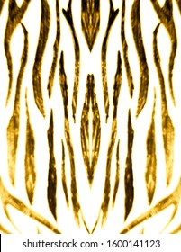 Luxury Tiger Print.  Royal Bengal Tiger. Green, Animal Skin Sketch. Green, Graphic Wallpapers. Zebra Wavy Lines. Chic Zebra Ornate Background. Fashion Leo Stripes Pattern.